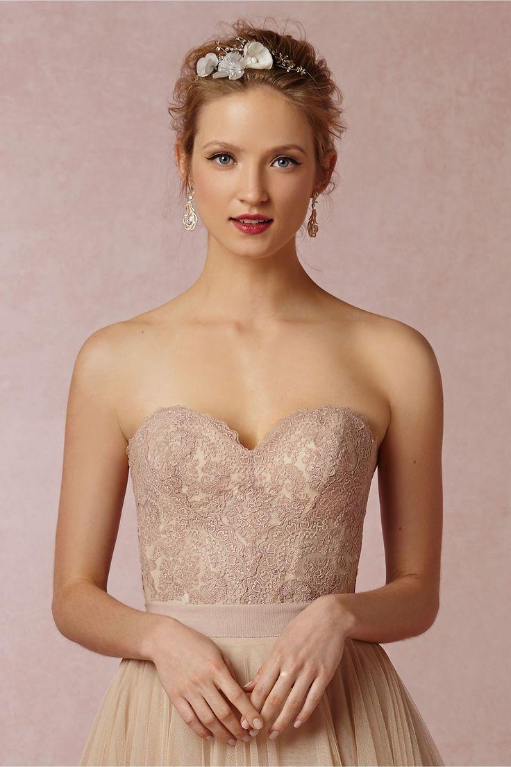 Lisa robertson in wedding dress - Carina Corset Bridal Separate In Blush By Bhldn