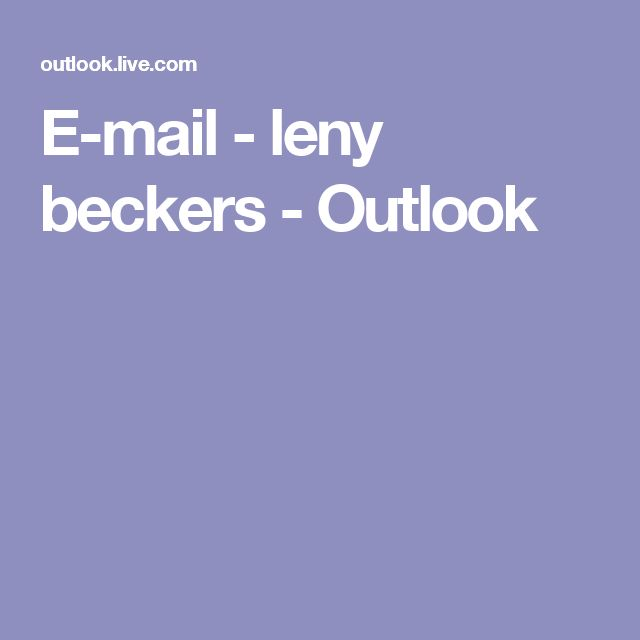 E-mail - leny beckers - Outlook