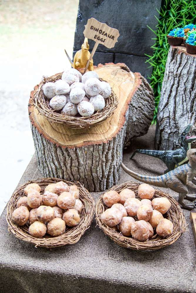 These Dinosaur eggs are such a great idea to add to a Dinosaur dessert table! See more party ideas at CatchMyParty.com