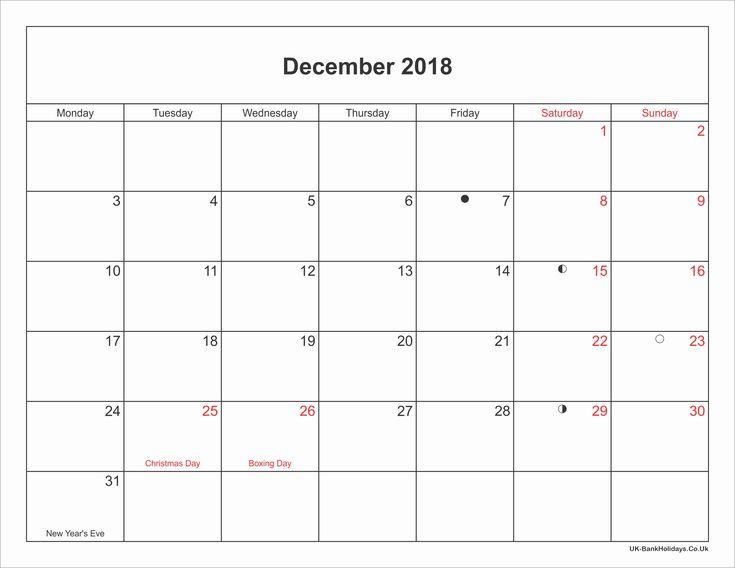 December 2018 Calendar December 2018 Calendar Pinterest