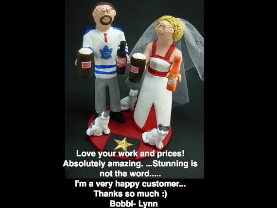 Toronto Maple Leafs Hockey Wedding Cake Topper Hockey Wedding Cake Topper Stanley Cup Wedding