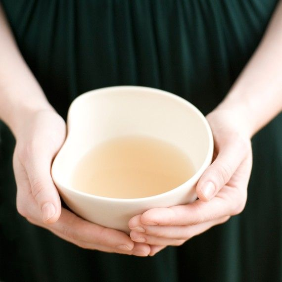 A hand-shaped bowl is just right for warming soups and sips of tea.