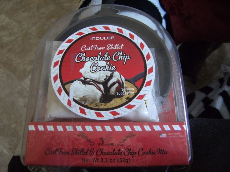 Indulge Cast Iron Skillet Chocolate Chip Cookie