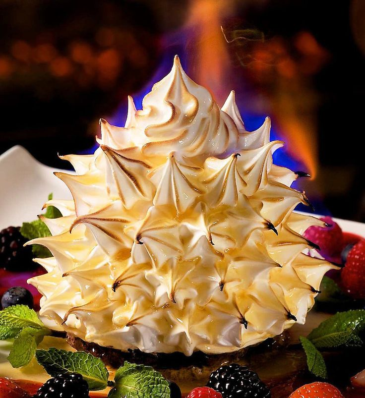 Flaming Baked Alaska by Pastry Chef Minhnguyet Nguyen.