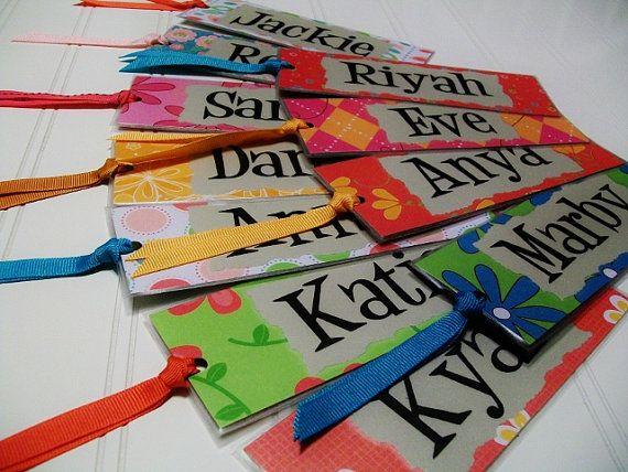Personalized bookmarks.  Classroom party favors.  Birthday party favors.