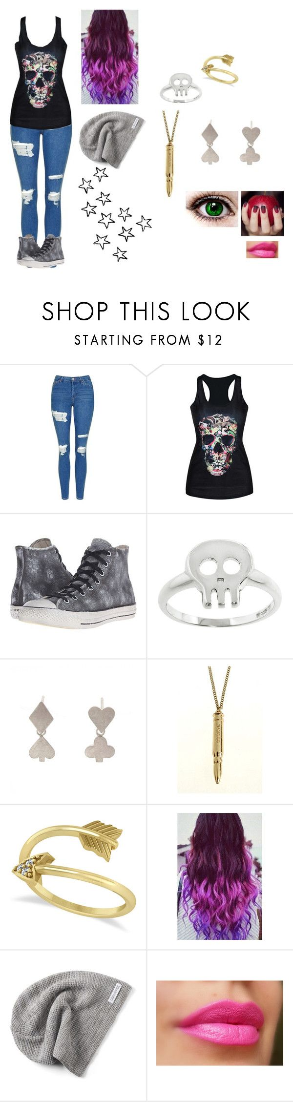 """""""Inspired By a Song"""" by sirengem ❤ liked on Polyvore featuring Topshop, Converse, Eternally Haute, Sian Bostwick Jewellery and Allurez"""
