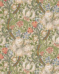 Tapetorama - Tapet 81124: Golden Lily Pale Biscuit från William Morris & Co