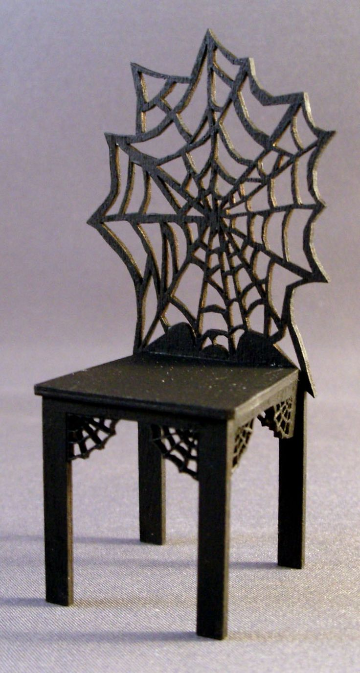 Michelleu0027s Miniatures Spider Web Chair   One Inch Scale [Spider Web Chair    One Inch Scal]   Spider Web Chair, Laser Cut.