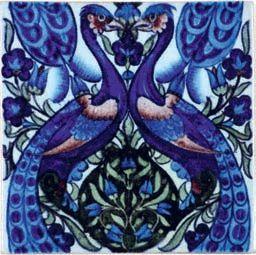 William De Morgan tile . Catleugh collection.