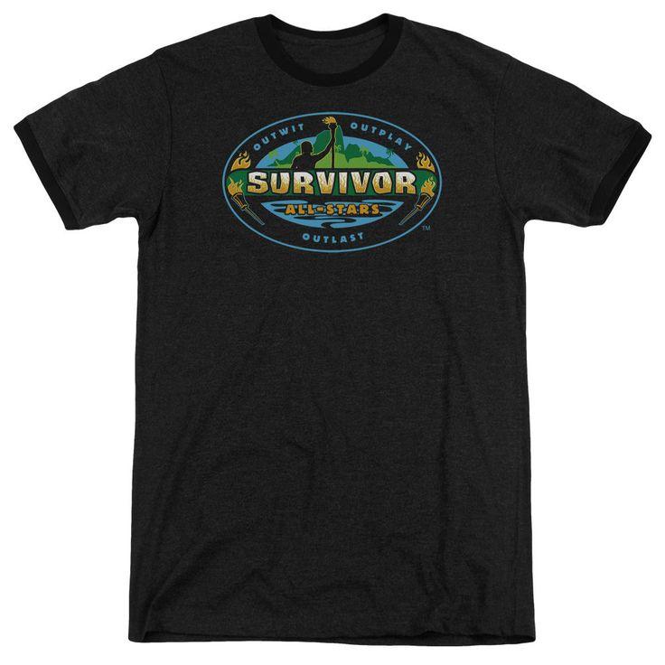 Survivor All Stars Black Ringer T-Shirt