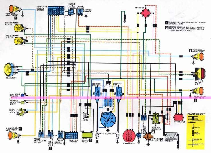 Electrical Wiring Diagram, Honda Motorcycle Wiring Diagram