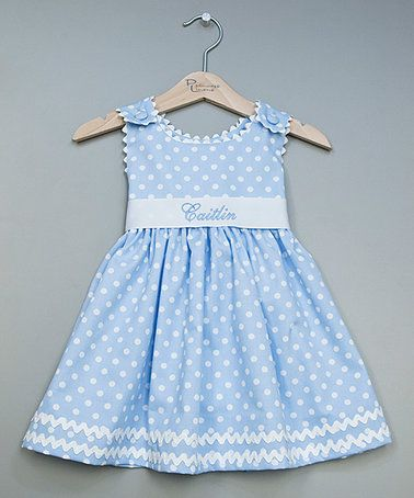 Another great find on #zulily! Blue Personalized Sash Dress - Infant, Toddler & Girls #zulilyfinds