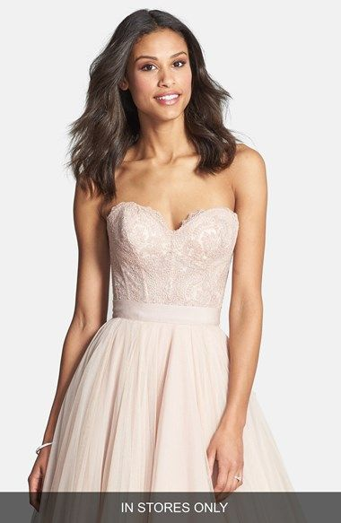 Watters 'Carina' Lace & Tulle Ballgown (In Stores Only) available at #Nordstrom