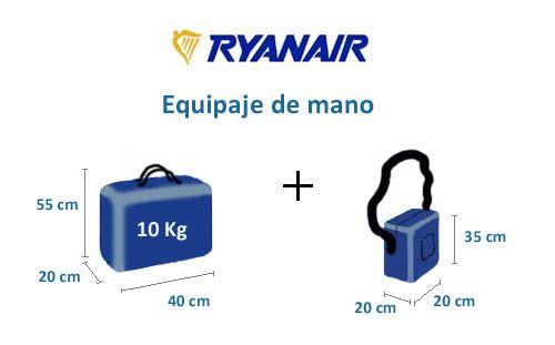 Resultado de imagen de medidas de la maleta de cabina en ryanair