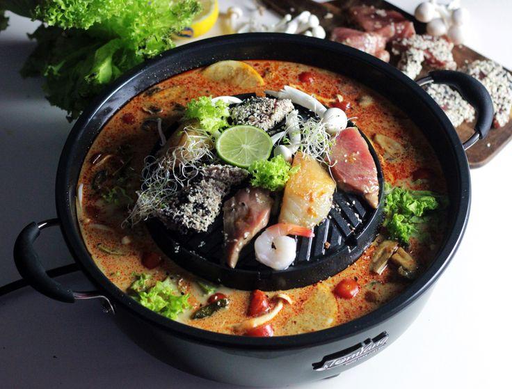 Tajska uczta dziś  na blogu! http://ostra-na-slodko.pl/2016/11/16/tajska-uczta-na-grillu-tomyang-bbq-tunczyk-krewetki-dorsz-zupa-tom-yum/
