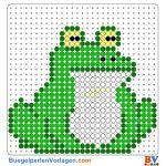 Frosch buegelperlen vorlagen web