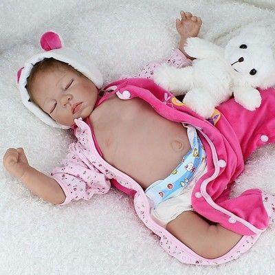 "CHEAP SELL  22""Realistic Reborn Baby Doll Newborn Lifelike Soft Vinyl Full Body"