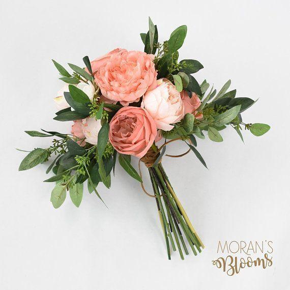 Peonies Bouquet, Boho Bouquet, Silk Bouquet,Wedding Flowers,Pink Peonies,Anemone,Seeded Eucalyptus,Summer Wedding,Bouquets,Pink Bouquet #weddingflowers