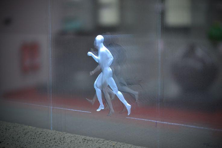 """Engraved """"Movie"""" Runner by Jaroslav Šára for Kolektiv Ateliers - hand-made!"""