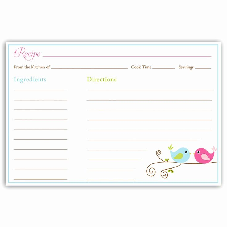 Free Fillable Recipe Card Template Unique Index Card Recipe