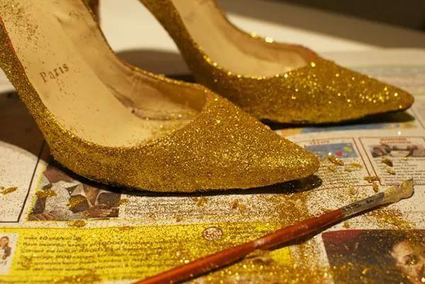 Zapatos DIY purpurina