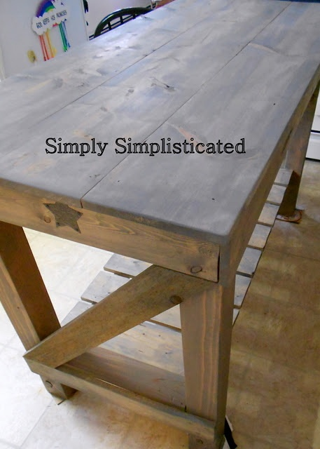 Homemade kitchen island from Simply Simplisticated