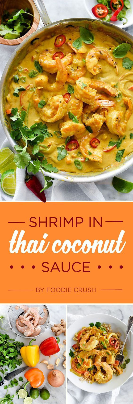 Shrimp in Thai Coconut Sauce:
