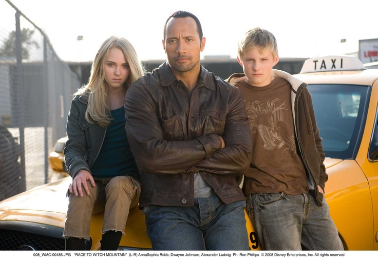 AnnaSophia with Alexander Ludwig and Dwayne Johnson in Race To Witch Mountain as Sara