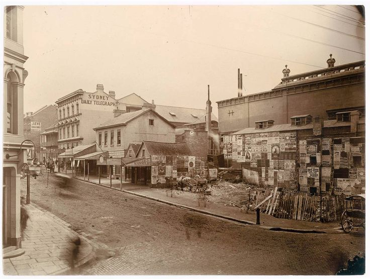 Corner Pitt & King streets c1882  State Library, NSW