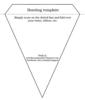 Bunting template- Free Printable