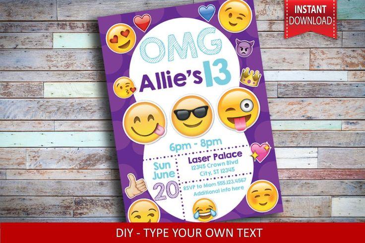 Purple Emoji Birthday Invitation - Emoji Invitation https://www.typeandinvite.com/collections/invitations/products/purple-emoji-invitation-emojis-invitation-emoji-faces-invitation-emoji-birthday-emojis-birthday-party-emoji-faces-birthday-party-emoji