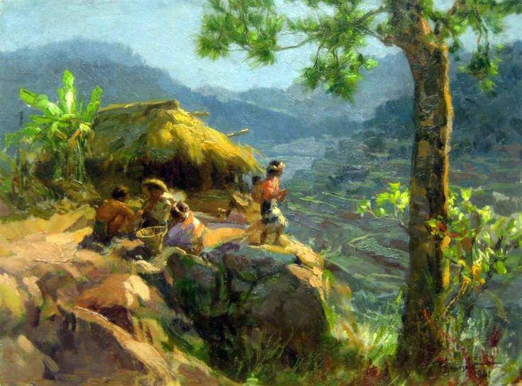 Cesar Amorsolo Painting For Sale