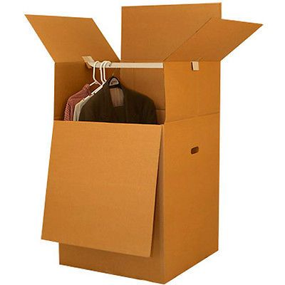 Moving Boxes - Wardrobe Boxes - Qty: 6 Boxes w Bars - Fast Free Shipping UBOXES