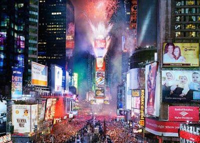 Spend a New Years Eve in New York Times Square.