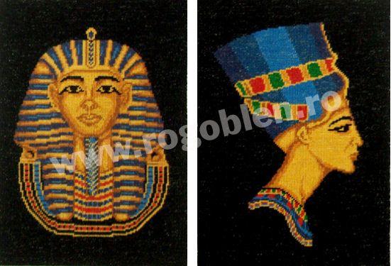 Cod produs: 10.10 Nefertiti si Tutankhamon Culori: 9 Dimensiune: 12 x 17 cm