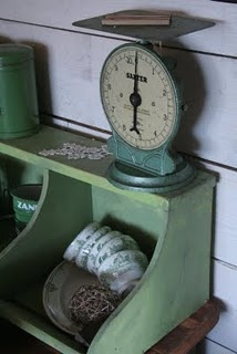 Vintage Green Weight Scale
