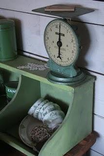 green scale / weegschaal