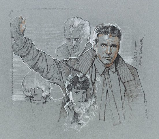 Blade Runner - pencil art by Drew Struzan