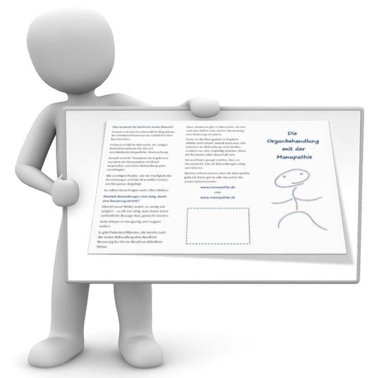 Diese Faltblätter (Flyer) setze ich unter anderem unterstützend als Erklärung für die Manupathie ein. In den Faltblättern wird auf das entsprechende Thema eingegangen und anschließend wird erklärt, wie die entsprechenden Verfahren eingesetzt werden können. Gerne können Sie die Texte für Ihre eigenen Projekte als Heilpraktiker nutzen.