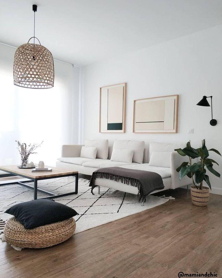 Dekoration Wohnzimmerideen Couch Teppich Couchtisch Modern Natural Holz Decke Ki In 2020 Living Room Decor Apartment Living Decor Living Room Modern