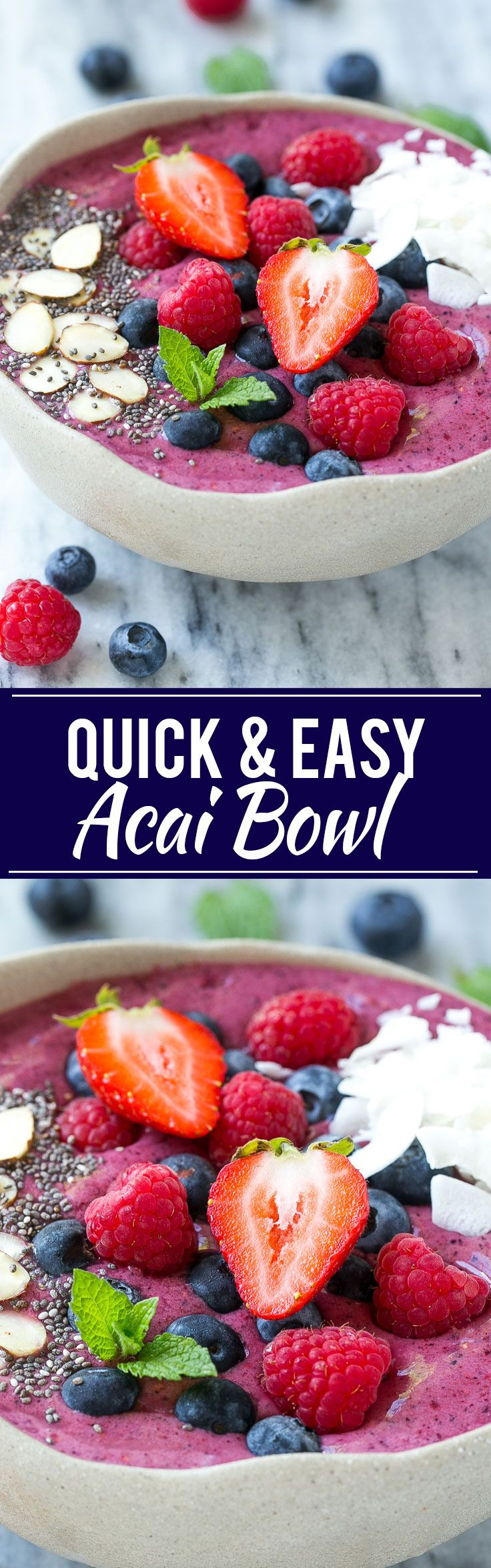 This acai bowl recipe is a smoothie made with fruit, acai berry puree and yogurt…