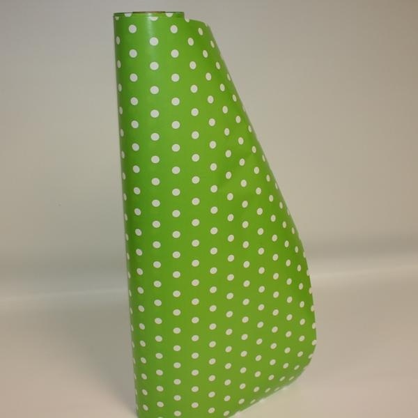 Green and White Polka Dot Gift Wrap
