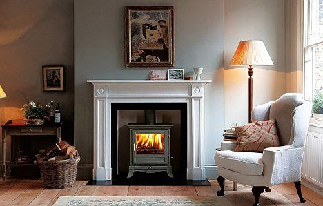 Warm up: Chesney's Barrington stove is a design inspired by Barrington Court, the manor house in Somerset owned by the National Trust. Click through to read article about wood heat in England