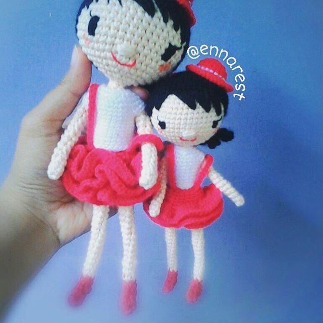 #amigurumi  #crochetdolls #crochet #bonekarajut #handmade #girl #red #white #craft