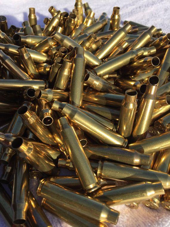 Shiny Empty 223 Brass Bullet Casings Cleaned & Polished for Bullet Jewelry, Steampunk and crafting.