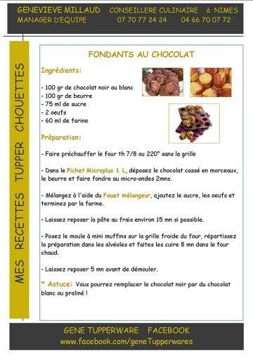 Tupperware - Fondants au chocolat