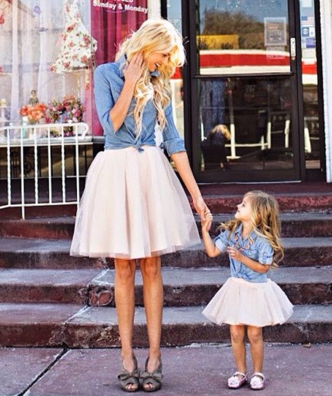 Our beautiful Ashley pleated tulle skirt is now being offered as part of an adorable Mommy and Me set.  How sweet would it be to have matching tulle skirts with