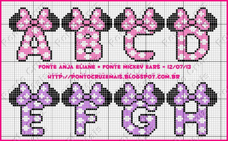Cross Stitch and More: Monogram Minie - Anja Eliane Normal