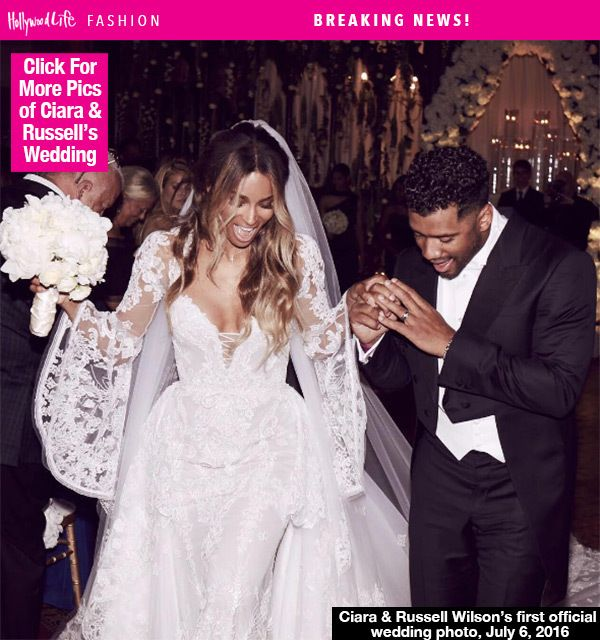 ciaraus wedding dress marries russell wilson in roberto cavalli gown u pics
