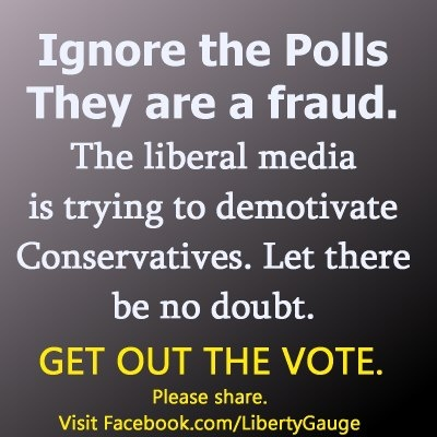 Polls are designed to suppress voter confidence.  Get out and vote for Romney!